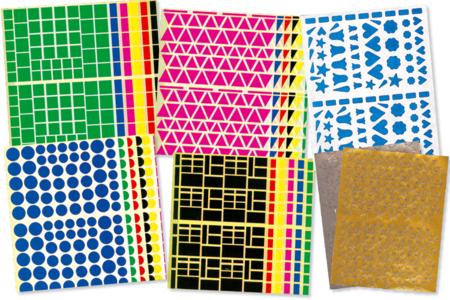 Gommettes assorties - Set de 7000 - Gommettes géométriques – 10doigts.fr