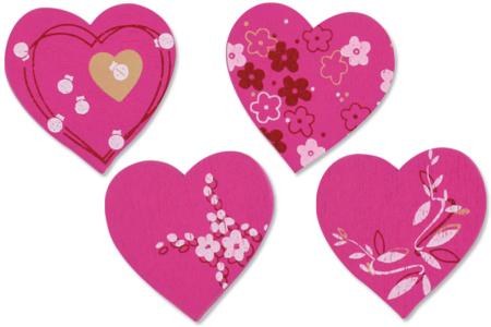 Coeurs fantaisie en bois décoré - Motifs peint – 10doigts.fr