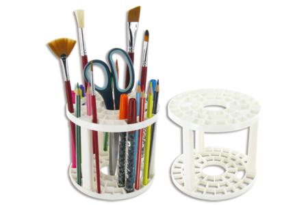 Pincelier en plastique - 12.5 cm - Palettes et rangements – 10doigts.fr