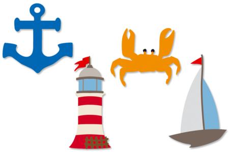Motifs La mer en bois décoré - Motifs peint – 10doigts.fr