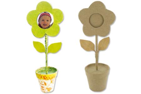 Fleur porte-photo en carton papier mâché - Cadres – 10doigts.fr