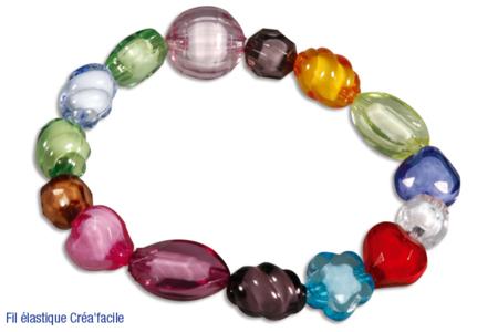 Perles à facettes en acrylique - Set de 100 - Perles acrylique – 10doigts.fr