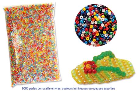 Pochette de 9000 perles de rocaille ø 2,5 mm couleurs assorties en vrac - Perles de rocaille – 10doigts.fr