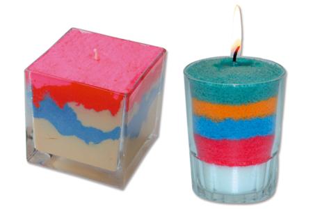 Cire bougie colorée prête à l'emploi - Cires, gel  et bougies – 10doigts.fr