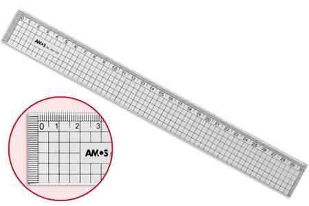 Règle quadrillée et graduée - 30 cm - Cutters, massicot – 10doigts.fr