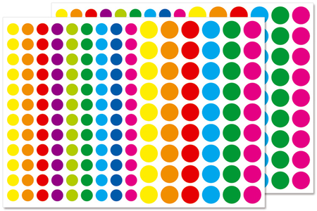 Petites gommettes rondes couleurs vives - Gommettes géométriques – 10doigts.fr