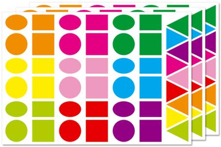 Maxi gommettes géométriques - Gommettes géométriques – 10doigts.fr
