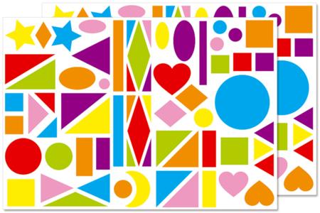 Maxi gommettes enfantines - Gommettes géométriques – 10doigts.fr