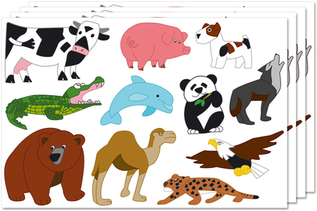 Maxi gommettes animaux - Gommettes animaux – 10doigts.fr