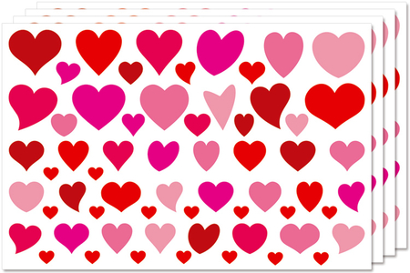 Gommettes cœurs Déco - Set de 244 - Coeurs autocollants – 10doigts.fr