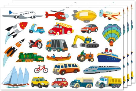 Gommettes transports assortis - Gommettes fantaisie – 10doigts.fr