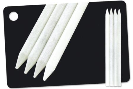 """Crayons blancs """"Concentré de craie"""" - Craies – 10doigts.fr"""