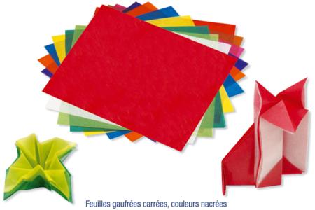 Sets de papiers translucides pour découpage, pliage, origami... 10 couleurs vives assorties - Papier calque – 10doigts.fr