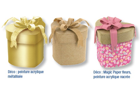 Set de 3 boîtes coeur enrubannées - Boîtes à bijoux – 10doigts.fr