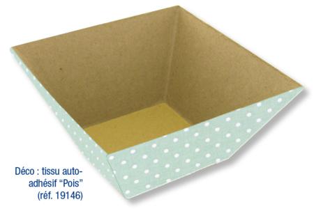 Corbeille vide-poches en carton papier mâché - Plateaux, corbeilles, vide-poches – 10doigts.fr