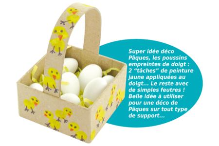 Panier en carton papier mâché - Noël, Pâques, carnaval – 10doigts.fr