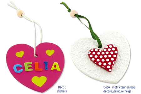 Étiquettes cœur en bois avec cordon et perle - Lot de 6 - Divers – 10doigts.fr