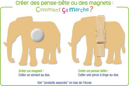 Animaux de la jungle en bois décoré - Motifs peint – 10doigts.fr