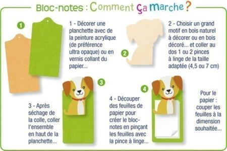 Ancre en bois naturel - Motifs brut – 10doigts.fr
