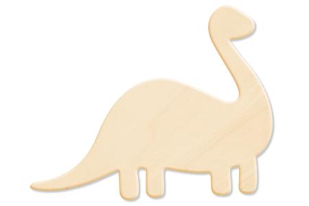 Dinosaure N°2 en bois naturel - Motifs brut – 10doigts.fr