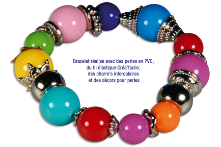 Mix de perles et de charm's en plastique métallisé argenté - Charm's, intercalaires, décors, filigranes – 10doigts.fr