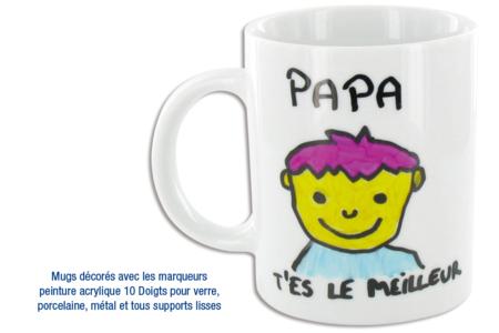 Mug en porcelaine blanche - Céramiques – 10doigts.fr