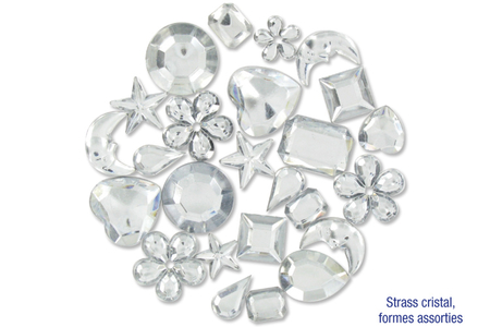 Strass cristal - 200 pièces - Strass – 10doigts.fr