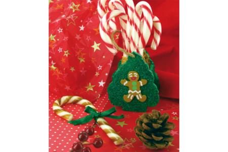 Panier de Noël en bois avec cordon - Corbeilles et paniers – 10doigts.fr