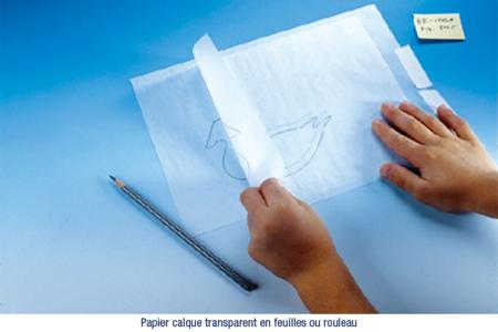 Papier calque transparent - 25  feuilles - Blocs et carnets – 10doigts.fr