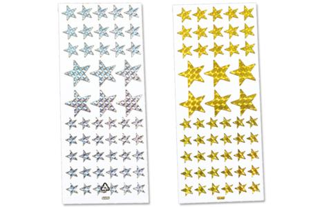 Étoiles holographiques - Set de 102 stickers - Gommettes et stickers Noël – 10doigts.fr
