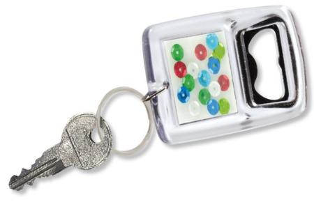 Porte-clés décapsuleur - Lot de 5 - Transparent – 10doigts.fr
