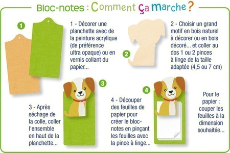 Fleur en bois naturel - Motifs brut – 10doigts.fr