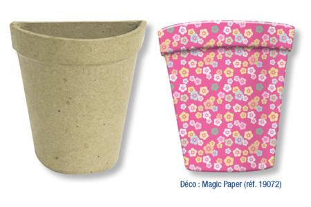 demi pots en carton papier mach pots vases paniers sacs 10 doigts. Black Bedroom Furniture Sets. Home Design Ideas