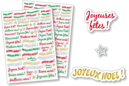 Gommettes messages de Fêtes - Gommettes de fêtes – 10doigts.fr