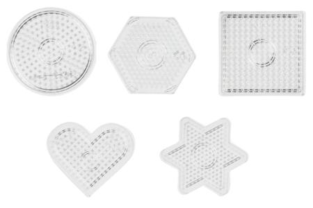 Plaques géométriques transparentes pour perles fusibles - Plaques perles fusibles 5 mm – 10doigts.fr