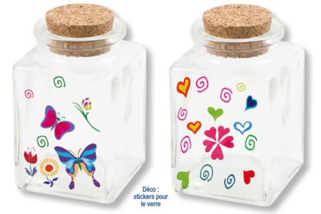 Petits bocaux à épices en verre - Lot de 4 - Verre – 10doigts.fr