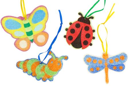 Activité Manuelle Carte à sabler Insecte enfant - Tête à Modeler