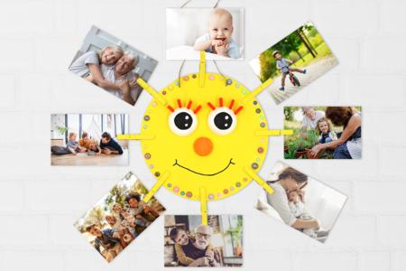 Porte-photo soleil - Activités enfantines – 10doigts.fr
