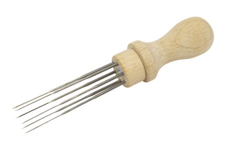 Manche en bois + 6 aiguilles à feutrer - Laine – 10doigts.fr