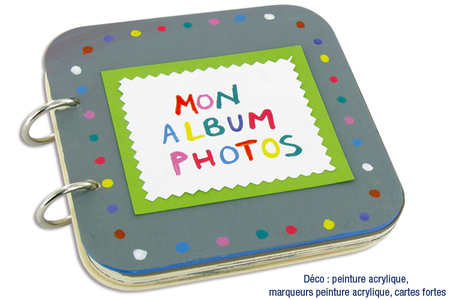 "Album photos en bois ""Mon album photos"" - Albums, carnets – 10doigts.fr"