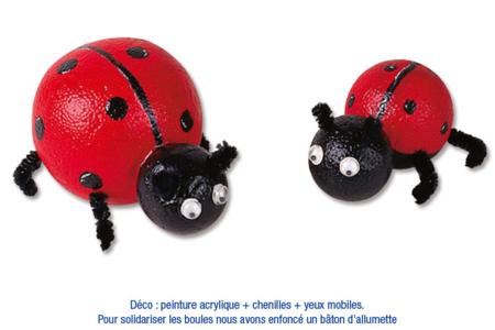 Animaux en boules de polystyrène - Activités enfantines – 10doigts.fr