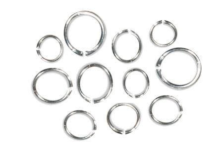 Anneaux ronds brisés argentés - diamètres au choix - Anneaux simples ou doubles, ronds ou ovales – 10doigts.fr