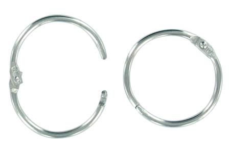 Anneaux métalliques argentés à clip - Lot de 10 - Porte-clefs, Anneaux, Mousquetons – 10doigts.fr
