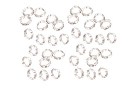 Anneaux doubles ronds argentés - 100 pièces - Anneaux simples ou doubles, ronds ou ovales – 10doigts.fr