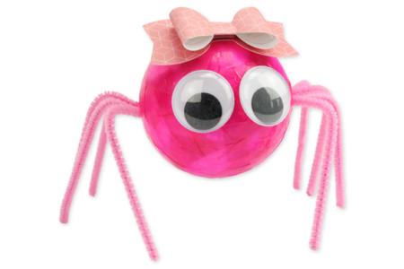 Araignées mignonnes en boules polystyrène - Halloween – 10doigts.fr