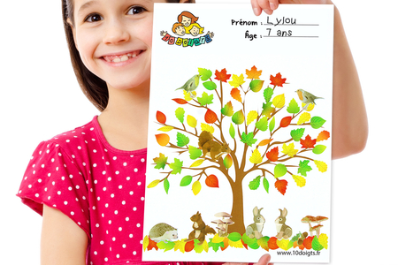 Gommettes feuilles d'arbres - 6 planches - Gommettes Saisons – 10doigts.fr