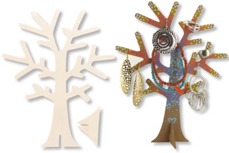 Arbre porte-bijoux en bois - Divers – 10doigts.fr