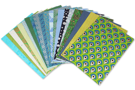 Assortiment de papiers indiens - Kerala - Papier artisanal naturel – 10doigts.fr