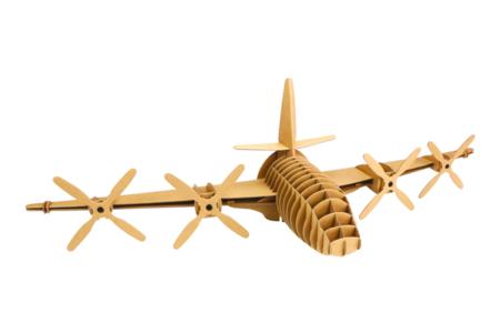 Trophée avion en carton à assembler - Objets décoratifs en carton – 10doigts.fr