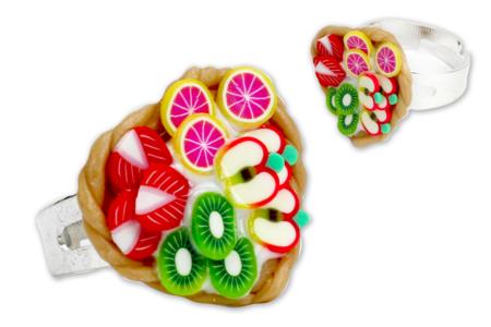 Bague fruits en pâte Fimo - Activités enfantines – 10doigts.fr